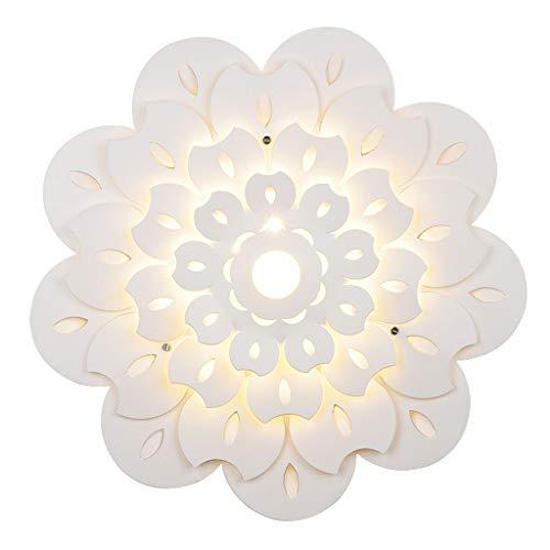 zlw-shop Ceiling Light Luces de Techo LED Creativas Pasillo Cocina Restaurante Moderno Luz de Techo Simple Blanco Lámpara Techo (Color : Huang Guang, Size : Medium)