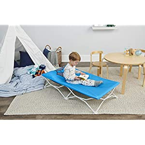 Regalo My Cot Pals Small Single Portable Toddler Bed , Raccoon, Blue