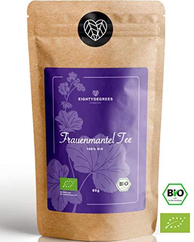 BIO Frauenmanteltee - 100% loses Frauenmantelkraut bio, naturbelassen - alchemilla vulgaris - abgefüllt und kontrolliert in Deutschland - 80g | 80DEGREES