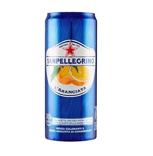 72 Dose L'Aranciata 330 ml San pellegrino Orangen Limonade Original Orange