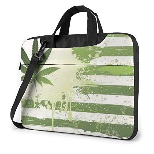 Grass Pot Leaf Unisex Laptop Bag Messenger Shoulder Bag for Computer Briefcase Carrying Sleeve