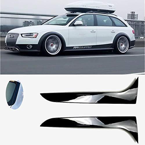 Spoiler Posteriore Fianco Nero di Alta qualità Materiale ABS Incolla Il Tipo per A-UDI A4 B8 Allroad Avant 2009-2016 Accessori