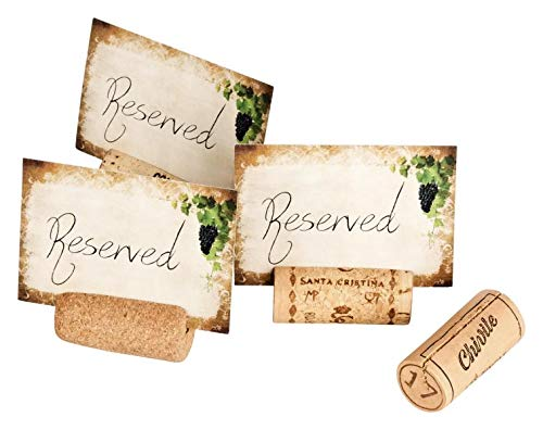 Tienda de mesa reservada | 20 corchos naturales usados + 40 tarjetas | Ideal para restaurantes, bares, cafeterías, restaurantes y restaurantes para marcar mesas reservadas
