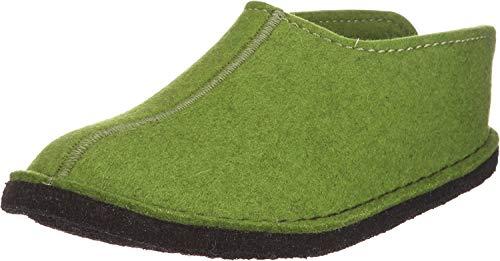 Haflinger Flair Smily, Pantoffeln, Unisex-Erwachsene, Filz aus reiner Wolle, Grün (Grasgrün 36), 40 EU