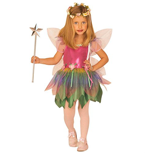 NET TOYS Enfants Costume fée avec Ailes déguisement de fée XS 110 cm 3-4 Ans Elfe déguisement Costume de Papillon Costume de fée