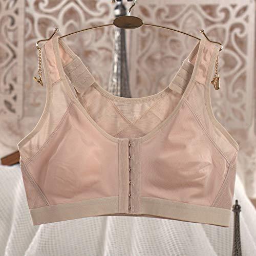 gfhjgjhj Women's Posture Corrector Wireless Back Support Bra,Women Posture Corrector Bra Wireless Back Support Lift Up Yoga Bra Underwear (M, Nude)