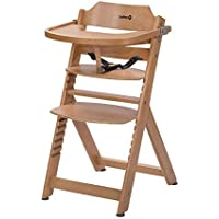 Safety 1st Timba Trona de madera con bandeja, Trona evolutiva para niños 6 meses - 10 años (30 kg), Regulable an altura,color Madera natural