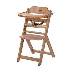 Säkerhet 1st Timba Co-växande barnstol, inkl. avtagbart bord, tillverkat av massivt bokträ, högt ryggstöd, från ca. 6 månader till ca. 10 år (max. 30 kg), bokträ, naturträ (brun)
