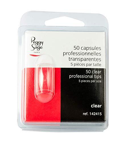 50 capsules professionnelles transparentes