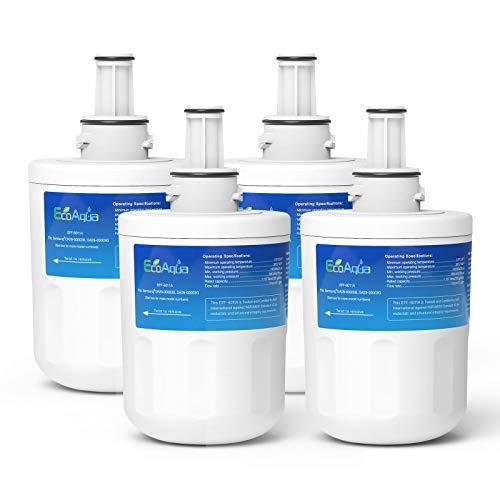 EcoAqua EFF-6011A Filtre de Réfrigérateur à Eau Compatible avec Samsung Aqua Pure Plus DA29-00003G HAFIN2 DA29-00003B DA29-00003A DA97-06317A DA99-01774B DA61-00159A HAFCU1 WF289 WSS-1 (4)