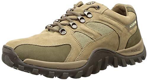 Woodland Men's Khaki Leather Sneaker-8 UK/India (42 EU) (GC 2657117)