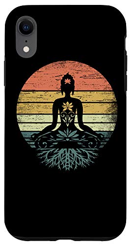 iPhone XR Vintage Buddha Roots Yoga Meditation Chakra Spiritual Gift Case