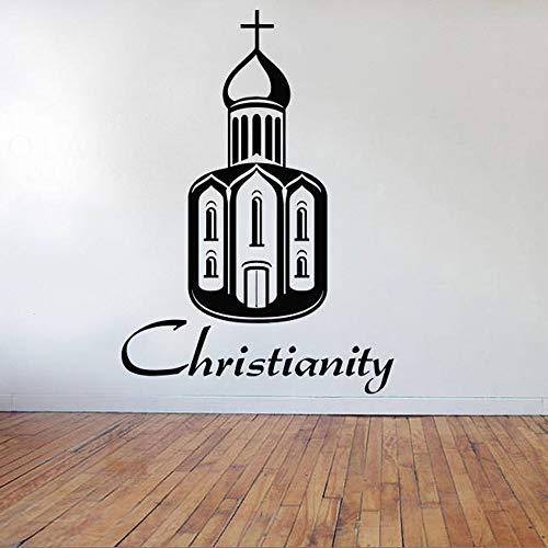 Adhesivo de pared, 80x57cm, Iglesia cristiana de Jesús, suministros cristianos, calcomanía decorativa para ventanas, vinilo, pared, vidrio, decoración Deca