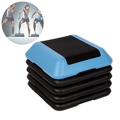 Grist CC Platform Stepper Aerobic Step, Verstellbares Fitnesspedal Mit Mini Tragbar, Quadratisch Für Heim Und Fitnessstudio