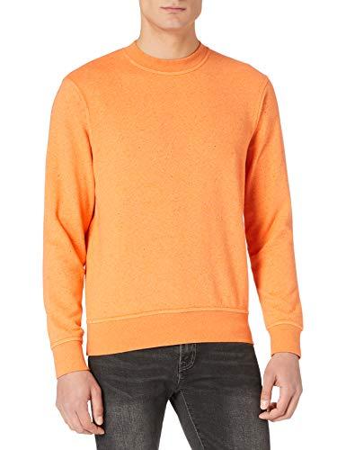 Scotch & Soda Meliertes Felpa-Sweatshirt mit Rundhalsausschnitt Sudadera, 4213 Morning Sun Melange, XL para Hombre