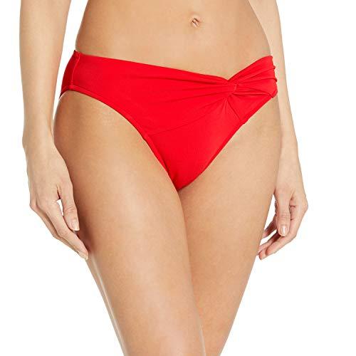 Jets by Jessika Allen Women's Jetsets Asymmetrical Twist Front Bikini Bottom, Flame, US 10 / AUS 14