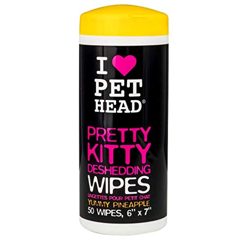 Pretty Kitty Deshedding Wipes, 50 pack, Pineapple