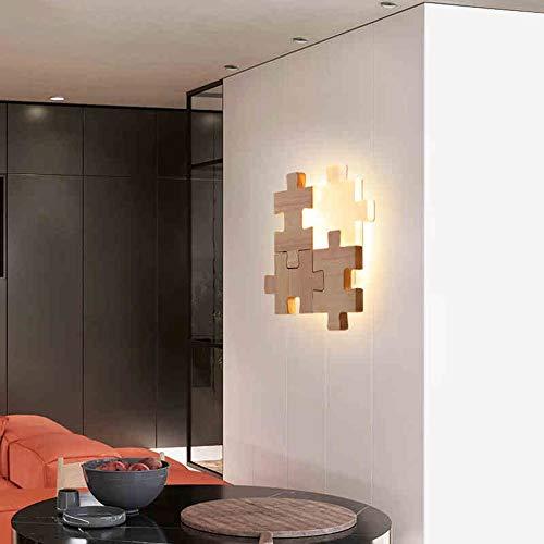 Jiayuan wandlamp van hout, dimbaar, voor thuis, hotel, hal, decoratie van de wand, LED-licht, leeslamp, licht, 18 W