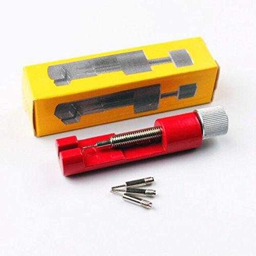 Pinhan Werkzeug zum Entfernen von Armbändern aus Metall, Länge einstellbar, professionelle Reparaturwerkzeug, Gurtentriegelung, Metall, rot, As The Description