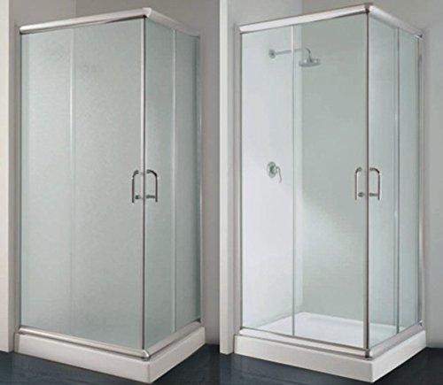 Box Doccia Angolare 80x100 con vetro Opaco o Trasparente disp. in diverse misure I