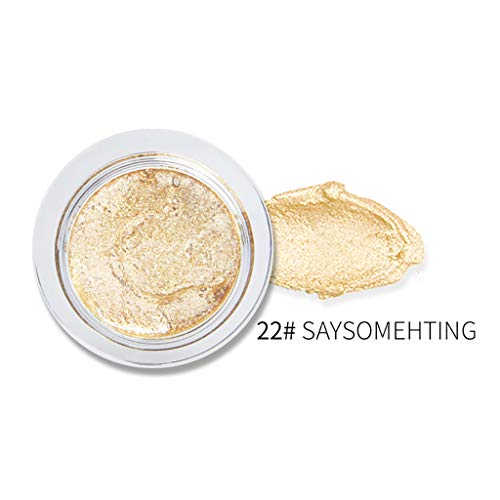 Lonshell Shimmer Poudre Highlighter Powder Palette Face Base Base Illuminator Maquillage bronzers Highlight Contour Silver Golden Single Baked Eye Shadow