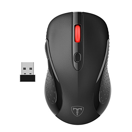 VicTsing 2.4G Wireless Mobile Optical Mouse with USB Nano Receiver, 6 Buttons, 2400 DPI and 5...
