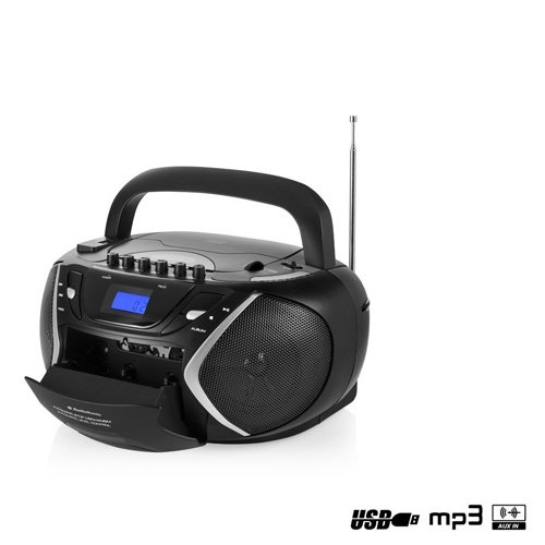 Smartwares CD-1596 – Radio portátil, pletina, MP3, USB