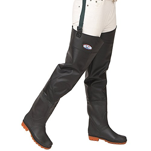Mufly Pantalones de Pesca, Impermeable Profesionales Wader Cuissardes PVC Gruesa Impermeable y...
