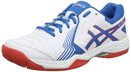 ASICS Gel-Game 6 Clay, Scarpe da Tennis Uomo, Bianco (White/Racer Blue 100), 44.5 EU