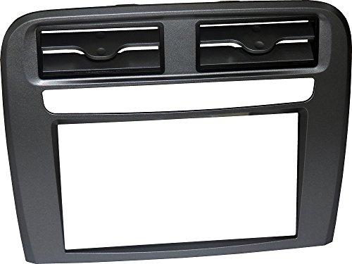 Façade d'autoradio DIN Pour FIAT Grand 2 point. Kit d'installation double DIN complète de supports pour le montage pur sans cadre approprié pour radio avec écran motorisé-Couleur visière : anthracite.