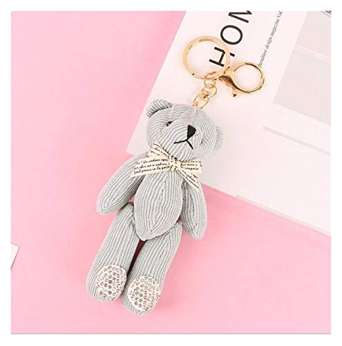 Goqiwep Key chain Cute Keychain Women Key Rings Fashion Pendant Teddy Bear Cartoon Car Bag Key Chains Accessories Charm Ornament (Color : Sky Blue)