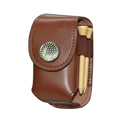 TeRIydF Tragbarer Golftaschenhalter aus Leder