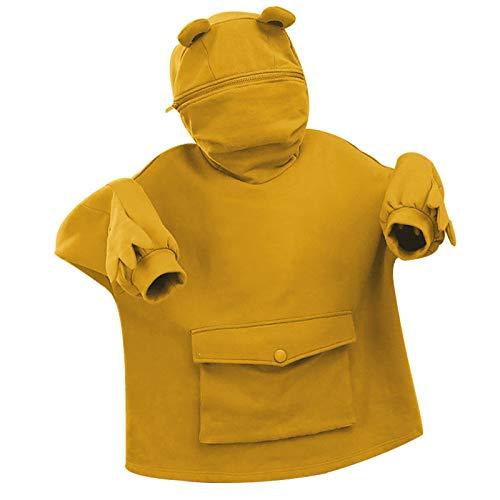 DAY8 Damen Herbst Winter Hoodie Frauen Sweatshirt Pullover Oberteile Langarmshirt...