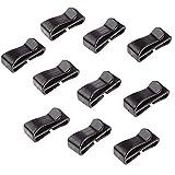 ベルトクリップ テープクリップ 補助バックル 20MM幅テープに適用 軽量 ブラック 10個セット
