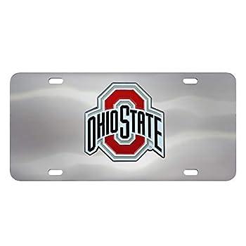 Ohio State Buckeyes Chrome 3D Logo License Plate