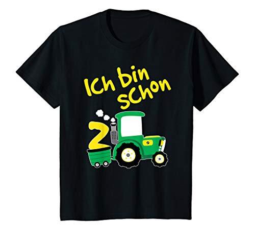 Kinder Traktor T-Shirt 2. Geburtstag Junge 2 Jahre Shirt Trecker