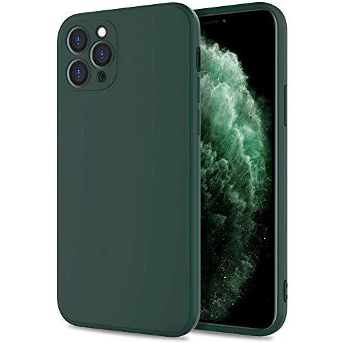 Silicona Líquida Funda para Huawei P40 Pro Plus Case, Funda Silicona líquida de Goma Compatible con Huawei P40 Pro Plus Cover, con Protección Individual para Cámara, Verde