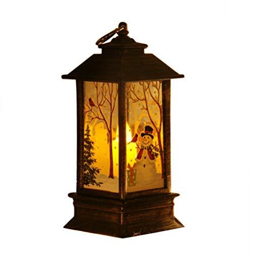 Weihnachten LED Kerzenlicht, Nachtlichter Kerzenlicht Tee Lampen Weihnachten Schneemann Deer Windlicht Dekoration Weihnachtsfeier Leuchterlampe Dekoration