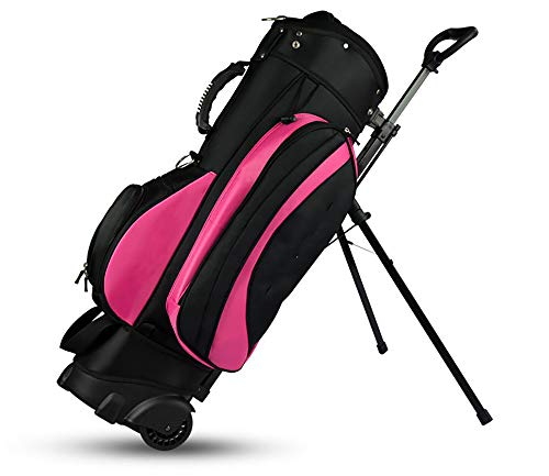 Buy ZHCSS Golf Bag Multi-Function with Bracket Pulley Tug Gun Bag Can Hold 13 Clubs, with A Bracket,...