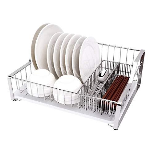 JJJJD Torre del plato estante con bandeja desmontable, porta cubiertos extraíbles, Chrome y Negro