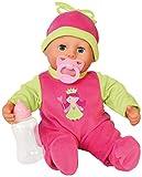 Bayer Design 9380600 - Funktionspuppe First Words Baby mit Fläschchen und Schnuller, 24 Babylaute,...
