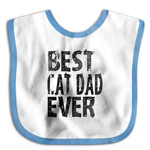 Best Cat Dad Eve Baby Bibs Baby Toddler Waterproof Lunch Bibs | Easily Wipes Clean