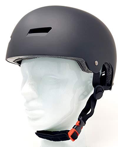 Hi-SHOCK Fahrradhelm + Schutzausrüstung Set für Snowboard, Skateboard, BMX, Inliner, E-Scooter Helm mit Drehrad-Anpassung geeignet für Kinder, Erwachsene [ABS & EPS - schwarz - verstellbar]