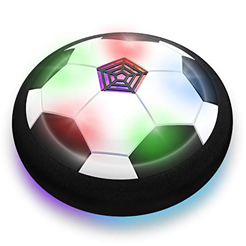 Toyk Boy Toys - LED Hover Soccer Ball - Air Power Training Ball Playing Football Game - Soccer (White)