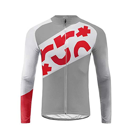 Sports Wear Uglyfrog Ciclismo Maillots Invierno Thermal Jersey Hombres Ropa Bicicleta Top Camisetas MTB Warm Jersey Manga Larga Gris Series