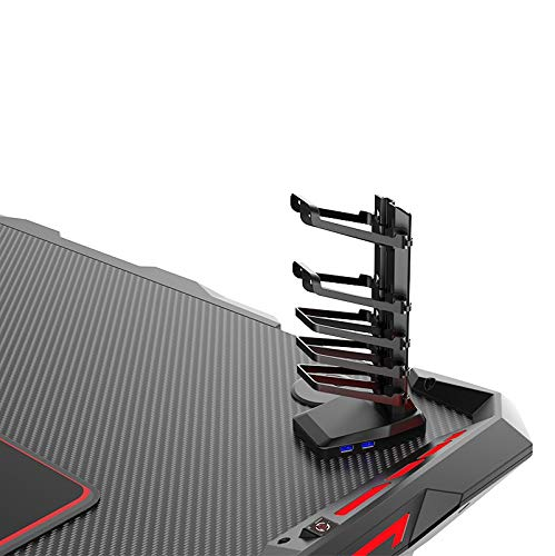 VSHARKER高品質ゲーミングデスク幅120cm奥行63cm高さ77cmRGBライティング