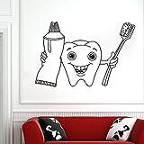 wZUN Clinique Dentaire Citation Autocollant Mural Dentiste Sourire Dents Autocollant Mural Vinyle Amovible décoration 63X42 cm