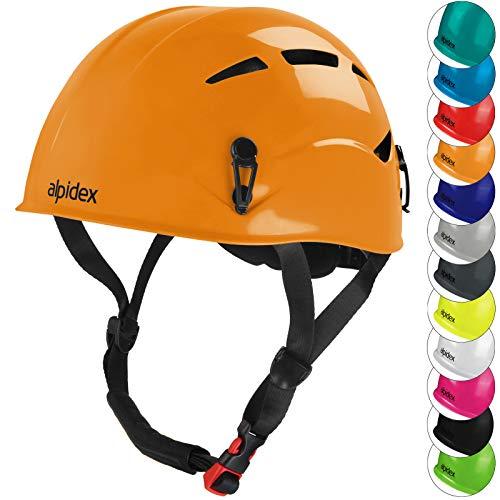 ALPIDEX Casco per Arrampicata de Donna e Uomo Casco Alpinismo en Diversi Colori, Colore:Sunset Orange