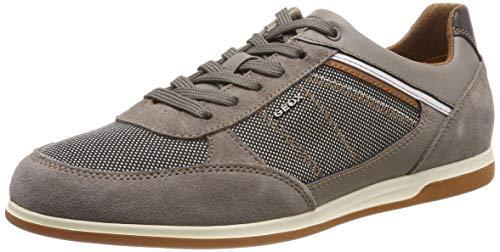 Geox Herren U Renan B Sneaker, Beige (Smoke Grey/Sand C1x5z), 44 EU