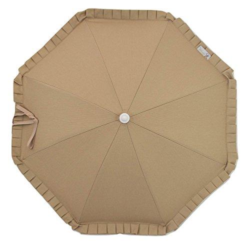 Sombrilla para carrito de bebé con protección solar Anti-UV CERTIFICADA + Flexo Universal. Pique Camel. Fabricada en España